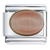 Pink Moonstone Italian Charms