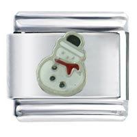 Silver Christmas Gifts Snowman Italian Charms