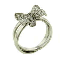 Size 7 Cz Bow Rings