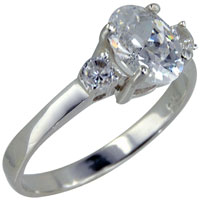 Size8 Oval Cz 925 Sterling Silver Ring Gift Jewelry Fashion