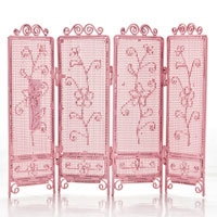 Cute Pink Jewerly Holder With Flower Pattern