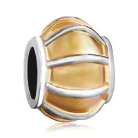 Silver Plated Golden Lantern Shaped European Bead Charms Bracelets