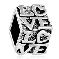 Silver Plated Forever Love Lover European Bead Charms Bracelets