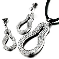 3 Pieces Of 925 Sterling Silver April Birthstone Art Pendant