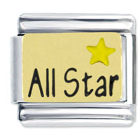 Yellow All Star Italian Charms Bracelet Link