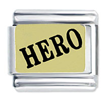 Hero Text Italian Charms Bracelet Link