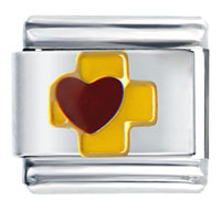 Celtic Cross And Heart Italian Charm Bracelet