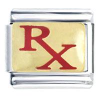 Rx Prescription For Medicine Italian Charms Bracelet Link