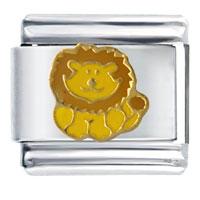 Happy Lion Animal Italian Charms Bracelet Link