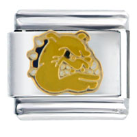 Golden Italian Charm Bracelet Bulldog