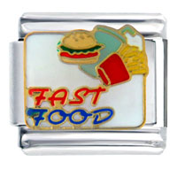 Fast Food Burgers Fries Italian Charms
