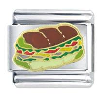Food Sandwich Sub Italian Charms Bracelet Link