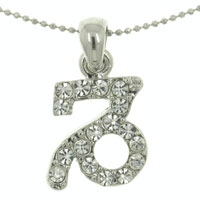 New Capricorn Horoscope Zodiac Sign Cz Crystal Pendant Necklace