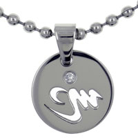Virgo Horoscope Zodiac Sign Stainless Steel Medallion Pendant Necklace 18 In