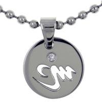 Virgo Horoscope Zodiac Sign Stainless Steel Medallion Pendant Necklace 18 In