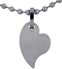 Abstract Heart Stainless Steel Necklaces Pendant For Men