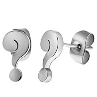 Stainless Steel Question Mark Stud Earrings Great Gifts For Mom