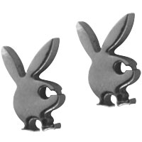 Bunny Stainless Steel Mens Hoop Earrings