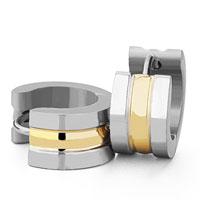 Men S Staineless Steel Hinged Hoop Earrings Silver Circle Convex Loop Hoop Earrings