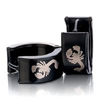 Men S Staineless Steel Hinged Hoop Earrings Scorpion Hoop Hinged Earrings