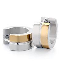 Men S Staineless Steel Hinged Hoop Earrings Most Circle Groove Hoop Earrings