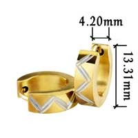 Men S Staineless Steel Hinged Hoop Earrings Golden Hoop Earrings