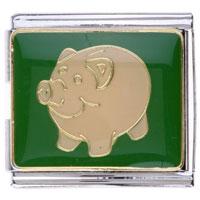 Chubby Pig Italian Charms Links For Bracelets Mega Italian Charm