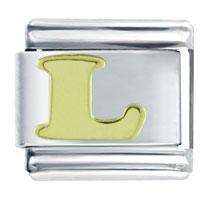 Golden Italian Charm Bracelet Letter Words Phrases Laser Italian Charm