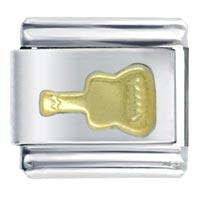 Golden Italian Charm Bracelet Guitar Gift