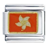 Flag Hong Kong Italian Charm Bracelet