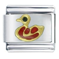 Red Duck Animal Italian Charms