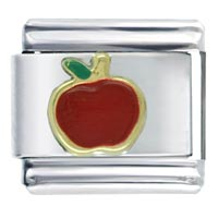 Apple Italian Charm Bracelet