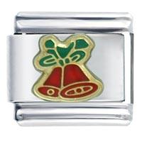 Christmas Bells Italian Charms Bracelet Link