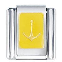 Yellow Anchor Autumn Fashion Jewelry Italian Charm