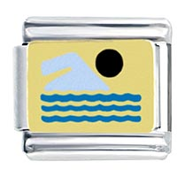 Swimmer By Price Italian Charm
