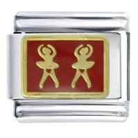 Red Ballerinas Sports Italian Charms