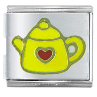 Yellow Teapot Autumn Fashion Jewelry Italian Charm