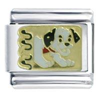 Puppy Barking Dogs Italian Charm Bracelet