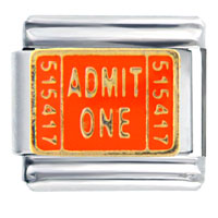 Admit Ticket Orange Words Phrases Italian Charm