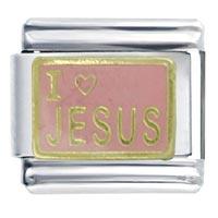 Bracelet I Heart Jesus Pink Italian Charm Bracelet