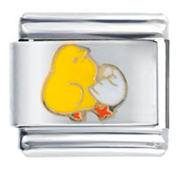 Yellow Chick Animal Italian Charms Bracelet Link