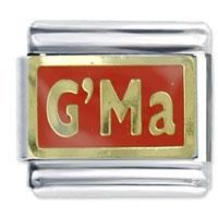 Grandma Red Birthstones Jewelry Italian Charm