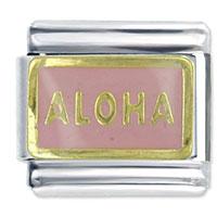 Hawaii Aloha Pink Words Phrases Italian Charm