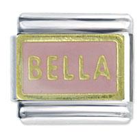 Bella Pink Words Phrases Italian Charm Bracelet