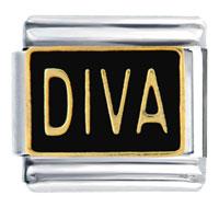 Diva Italian Charms Bracelet Link