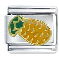 Tropical Pineapple Italian Charm Bracelet