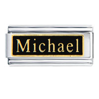 Michael Name Italian Charms Bracelet Link
