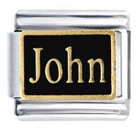 Golden Italian Charm Bracelet John Name