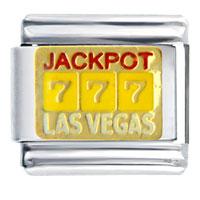 Jackpot Las Vegas Italian Charms Bracelet Link