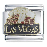 Las Vegas Black Italian Charms